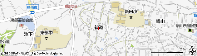 愛知県知多市八幡(新道)周辺の地図