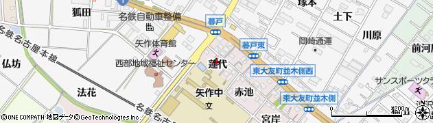 愛知県岡崎市暮戸町(蓮代)周辺の地図