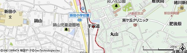 愛知県知多市八幡(半田道)周辺の地図