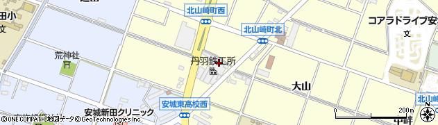 愛知県安城市北山崎町(柳原)周辺の地図