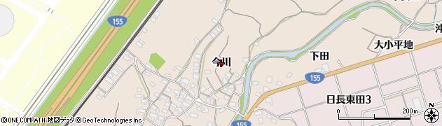 愛知県知多市日長(今川)周辺の地図