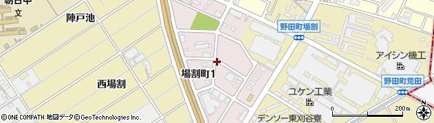 愛知県刈谷市場割町周辺の地図