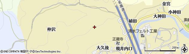 愛知県岡崎市岩戸町周辺の地図