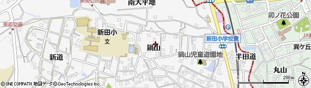 愛知県知多市八幡(鍋山)周辺の地図