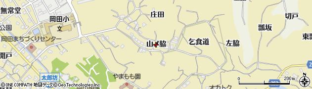 愛知県知多市岡田(山ノ脇)周辺の地図