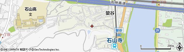滋賀県大津市螢谷周辺の地図