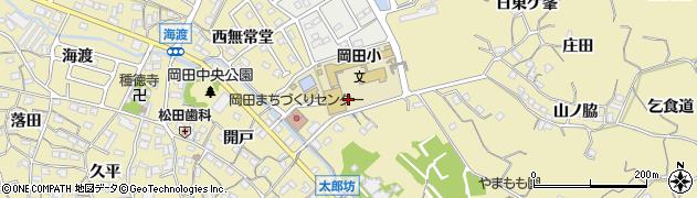 愛知県知多市岡田(段戸坊)周辺の地図