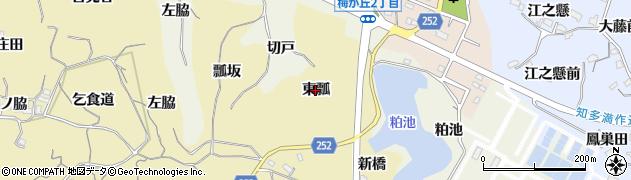 愛知県知多市岡田(東瓢)周辺の地図