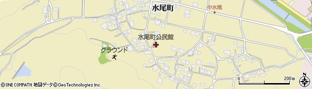 水尾町公民館周辺の地図