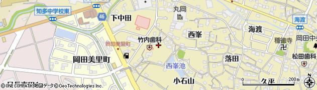 愛知県知多市岡田(野崎)周辺の地図