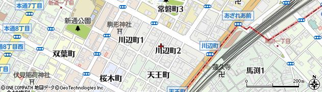 静岡県静岡市葵区川辺町周辺の地図