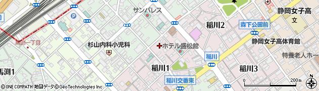 千勝浅間神社周辺の地図