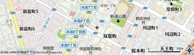 静岡県静岡市葵区新通周辺の地図