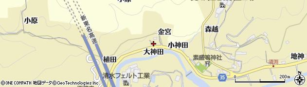 愛知県岡崎市須淵町(大神田)周辺の地図