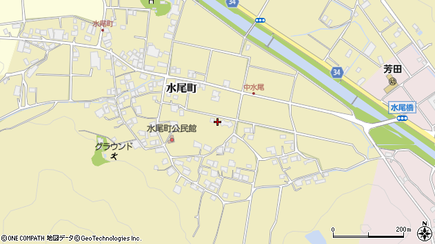 〒677-0066 兵庫県西脇市水尾町の地図