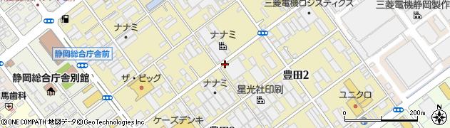 静岡県静岡市駿河区豊田周辺の地図