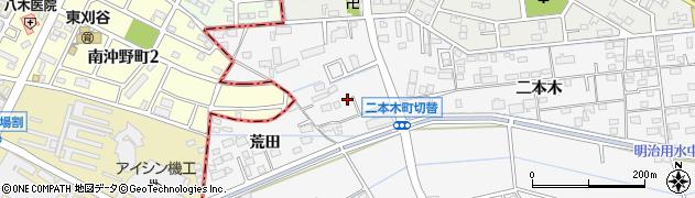 愛知県安城市二本木町(切替)周辺の地図