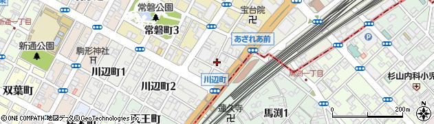 静岡県静岡市葵区西門町周辺の地図