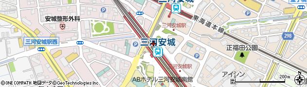 だるま三河安城店上り売店周辺の地図