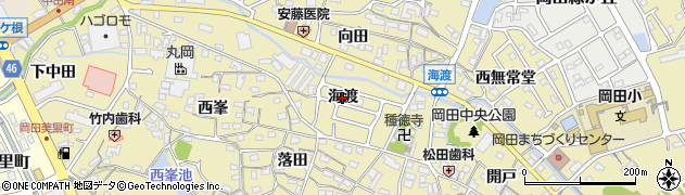 愛知県知多市岡田(海渡)周辺の地図