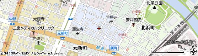三重県四日市市中町周辺の地図