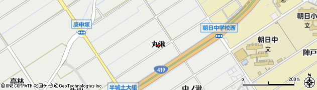 愛知県刈谷市半城土町(丸湫)周辺の地図