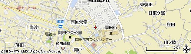 愛知県知多市岡田(東無常堂)周辺の地図