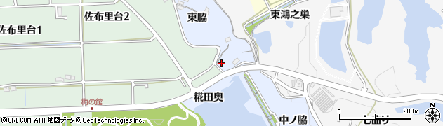 愛知県知多市佐布里(清水脇)周辺の地図