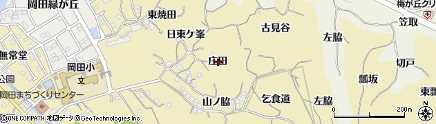 愛知県知多市岡田(庄田)周辺の地図