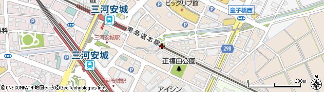 愛知県安城市三河安城町周辺の地図