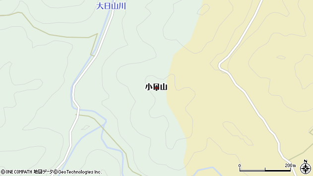 〒679-5535 兵庫県佐用郡佐用町小日山の地図
