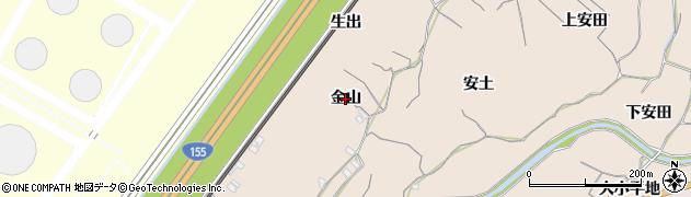 愛知県知多市日長(金山)周辺の地図