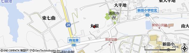 愛知県知多市八幡(丸根)周辺の地図