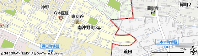 愛知県刈谷市南沖野町周辺の地図