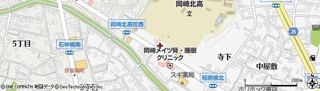 おしどり寿司 岡崎稲熊店周辺の地図