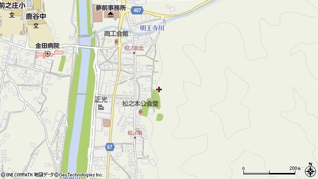 〒671-2103 兵庫県姫路市夢前町前之庄の地図
