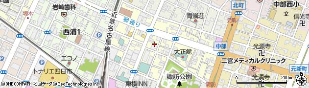 三重県四日市市西新地周辺の地図