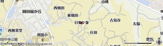 愛知県知多市岡田(日東ケ峯)周辺の地図