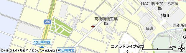 愛知県安城市北山崎町(西山)周辺の地図