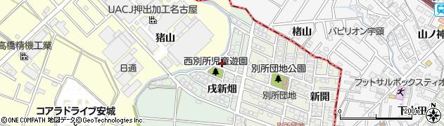 愛知県安城市西別所町(北牛引)周辺の地図