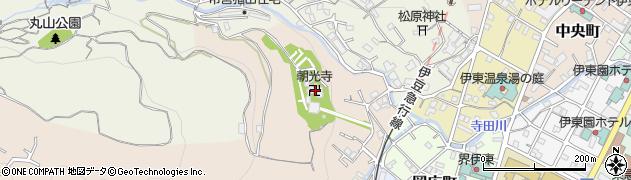 朝光寺周辺の地図