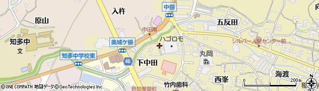 愛知県知多市岡田(薬師前)周辺の地図
