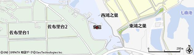 愛知県知多市佐布里(東脇)周辺の地図