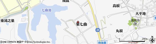 愛知県知多市東七曲周辺の地図