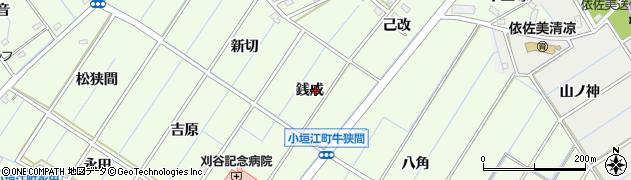 愛知県刈谷市小垣江町(銭成)周辺の地図