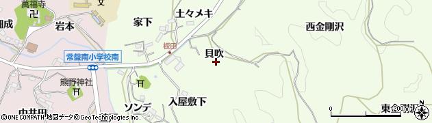 愛知県岡崎市板田町周辺の地図