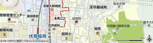伏見妙見寺周辺の地図