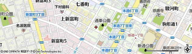 静岡県静岡市葵区通車町周辺の地図