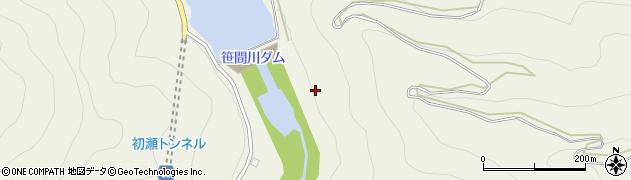 笹間川ダム周辺の地図