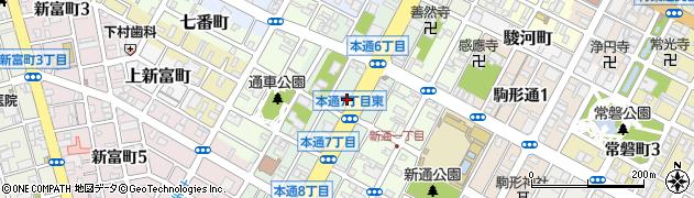 静岡県静岡市葵区本通周辺の地図